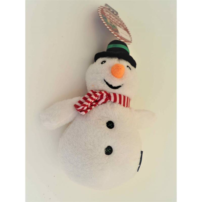 Cuddly Snowman Squeaky Dog Toy