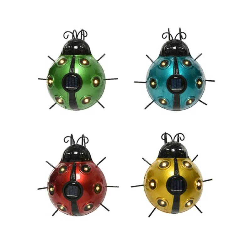 Solar garden light iron ladybug