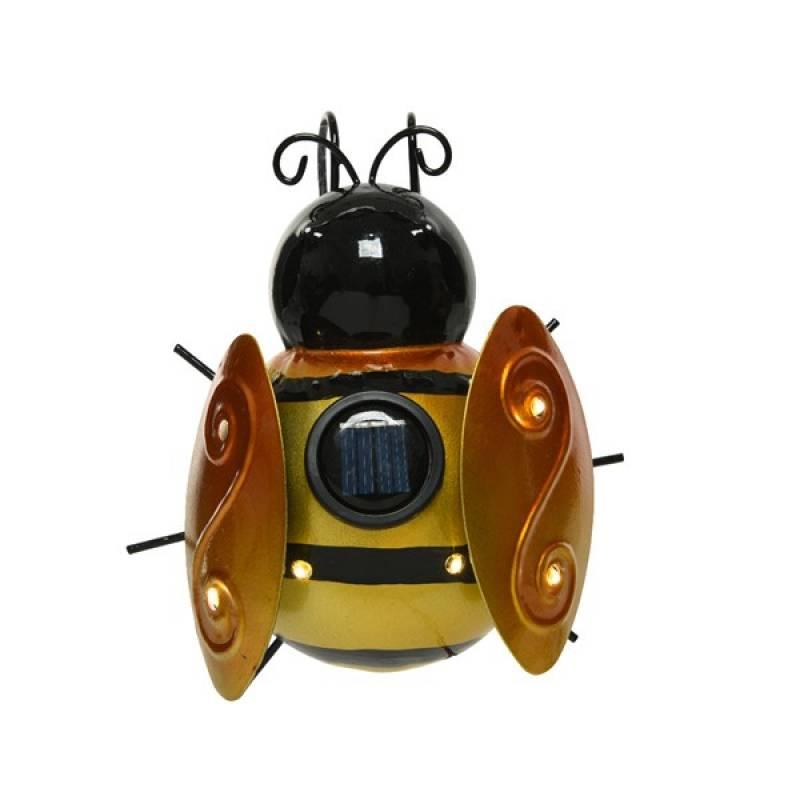 Solar garden light iron bee