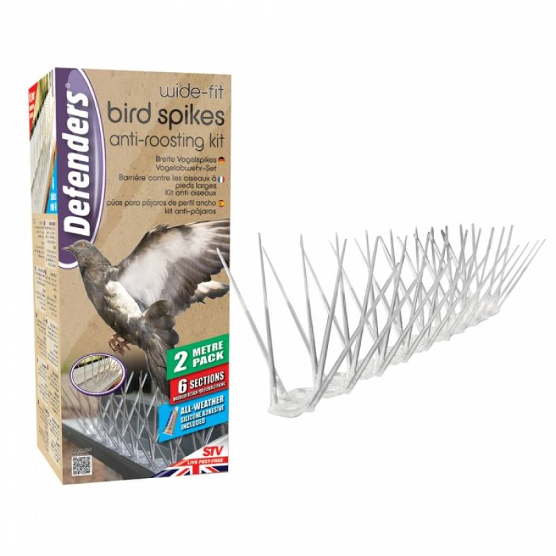 Wide Fit Bird Spikes 2 Metre Pack