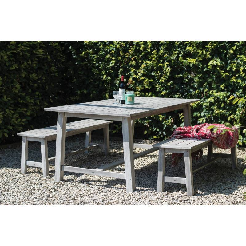 Dorset Collection Dining Set with Benches