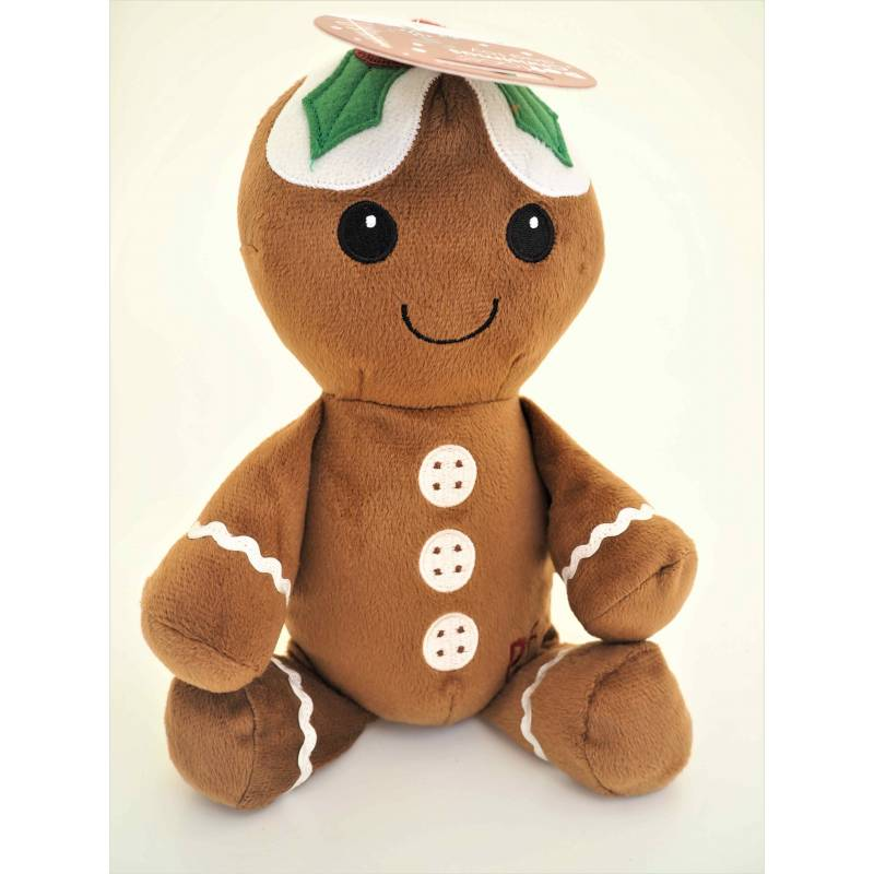 Petface Festive Plush Gingerbread Man Squeak Toy