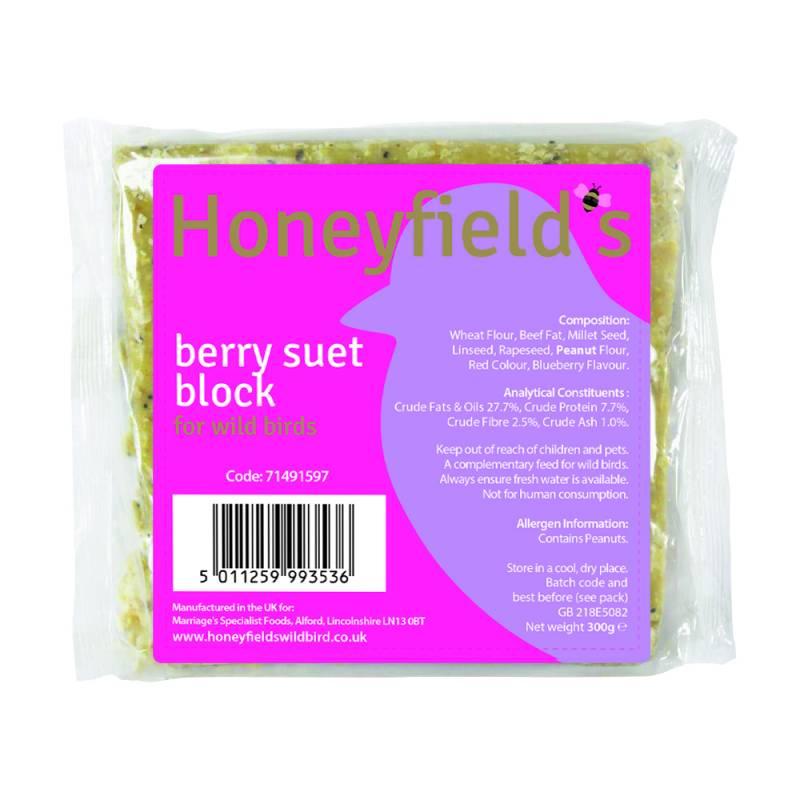 Honeyfields Berry Suet Treat 300gm