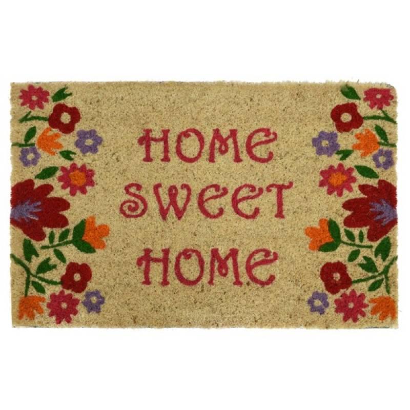flowers home sweet home matcoir outdoor