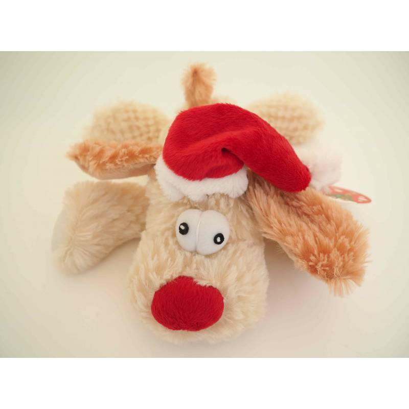 Petface Christmas Doggy Santa Squeaky Dog Toy