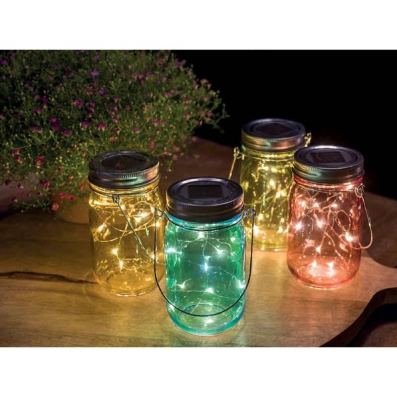 Solar garden light glass