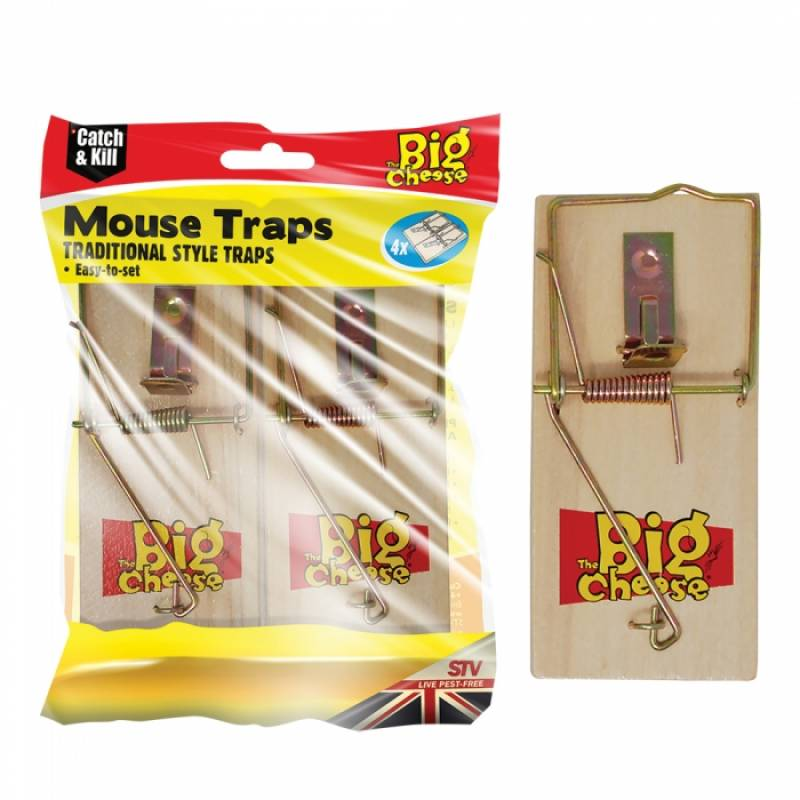 Wooden Mouse Trap 4pk