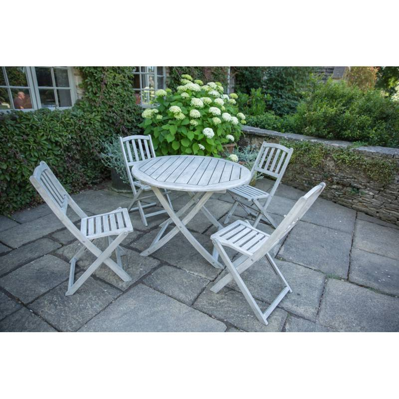Dorset Collection Round Table & Four Chairs Set