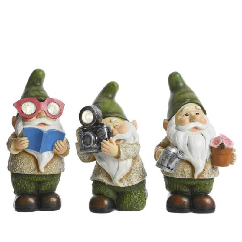 Solar figurines polyresin gnomes