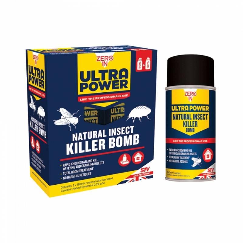 Natural Insect Killer Bomb - 150ml Aerosol 2 pack