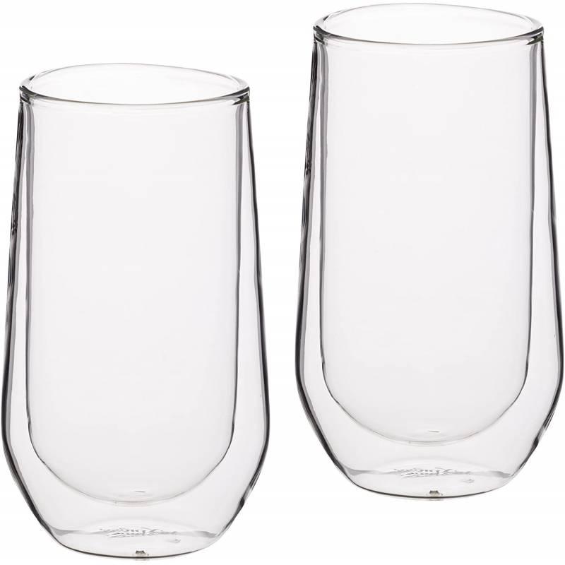 Double Walled Highball Glass x2 380ml