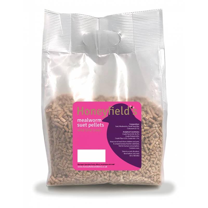 Honeyfields Mealworm Suet Pellets 750gm