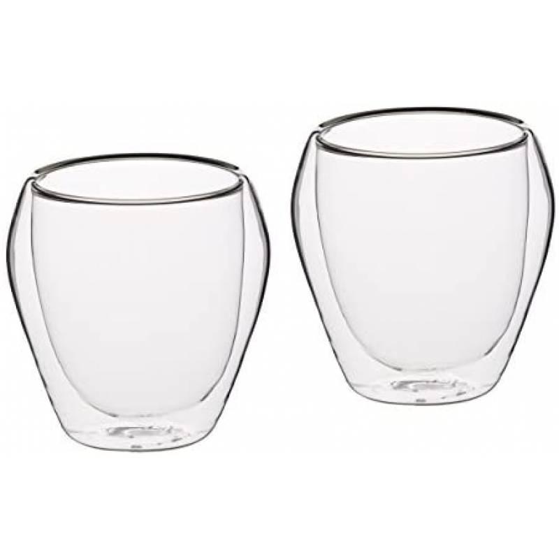 Double Walled Glass Tumblers x2 250ml
