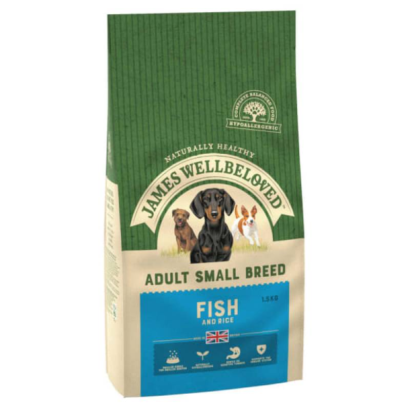Small Breed Dog Food Fish and Rice 1.5kg