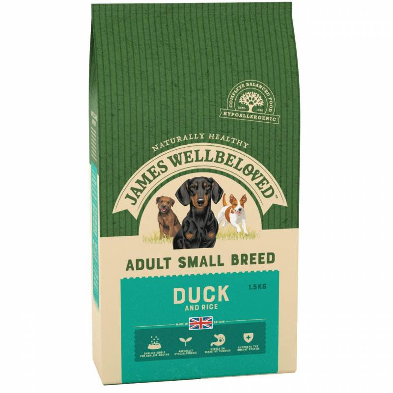 Dog Small Breed Duck and Rice 1.5KG