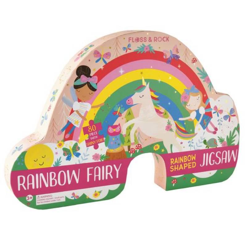 Jigsaw 80 Piece Shaped Rainbow Fairy