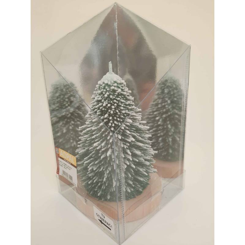 Coniferous Christmas Tree Candle , 13.5cm high.
