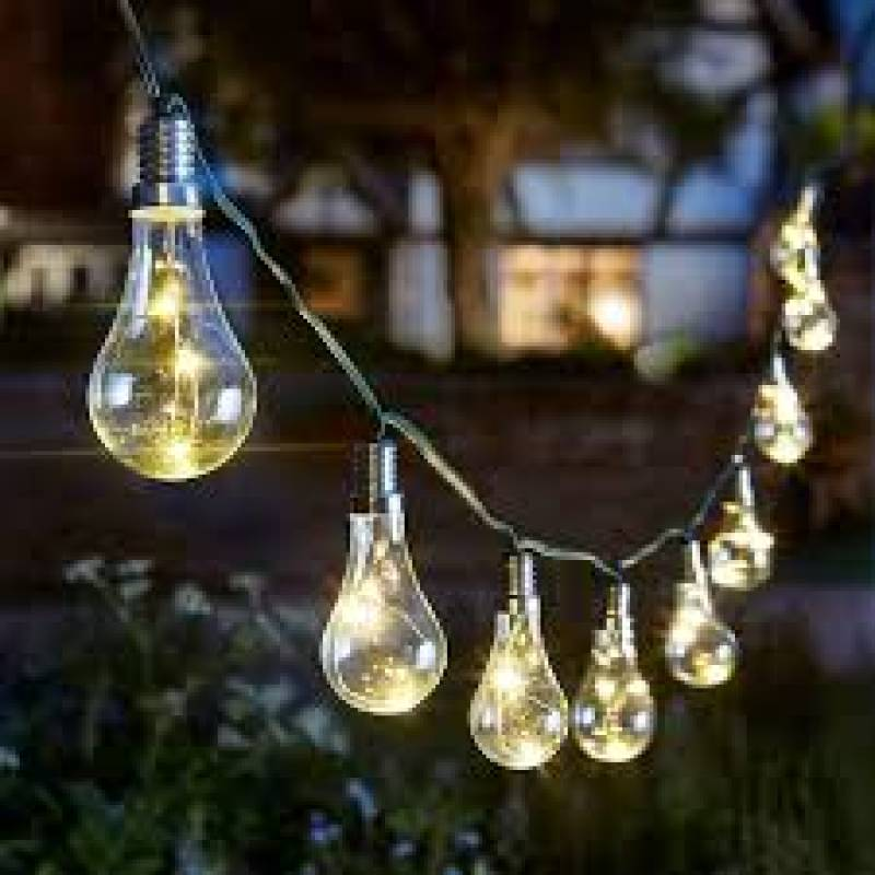 10 Solar Bulb Str/Lights clear