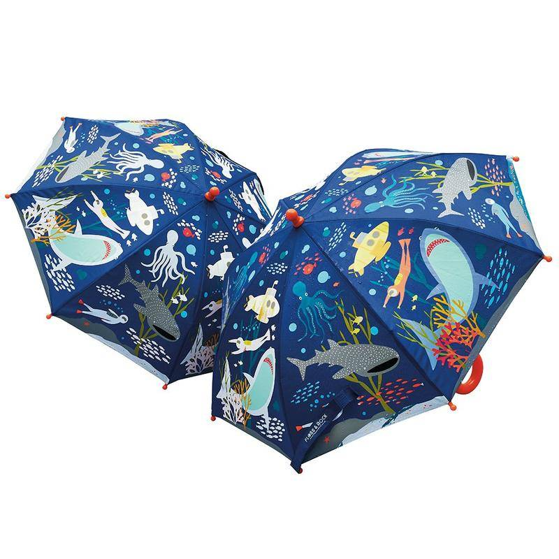 Colour Changing Umbrella Deep Sea