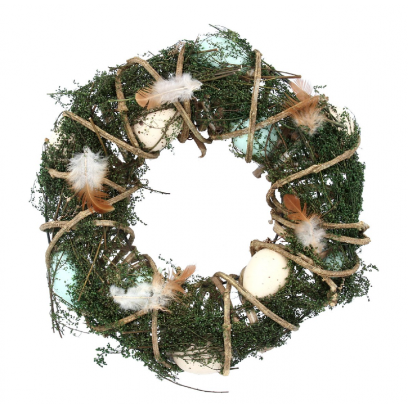 Wicker and Moss Wreath