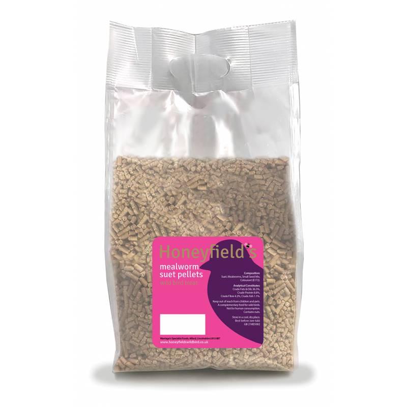 Honeyfields Mealworm Suet Pellets 2Kg