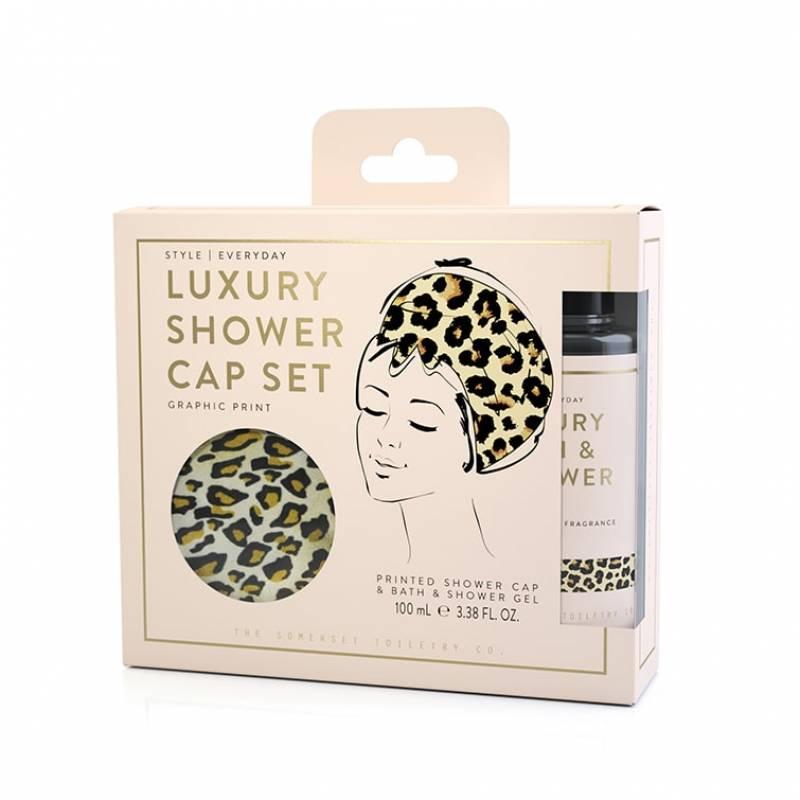 Leopard Shower Gap Set - Pina Colada