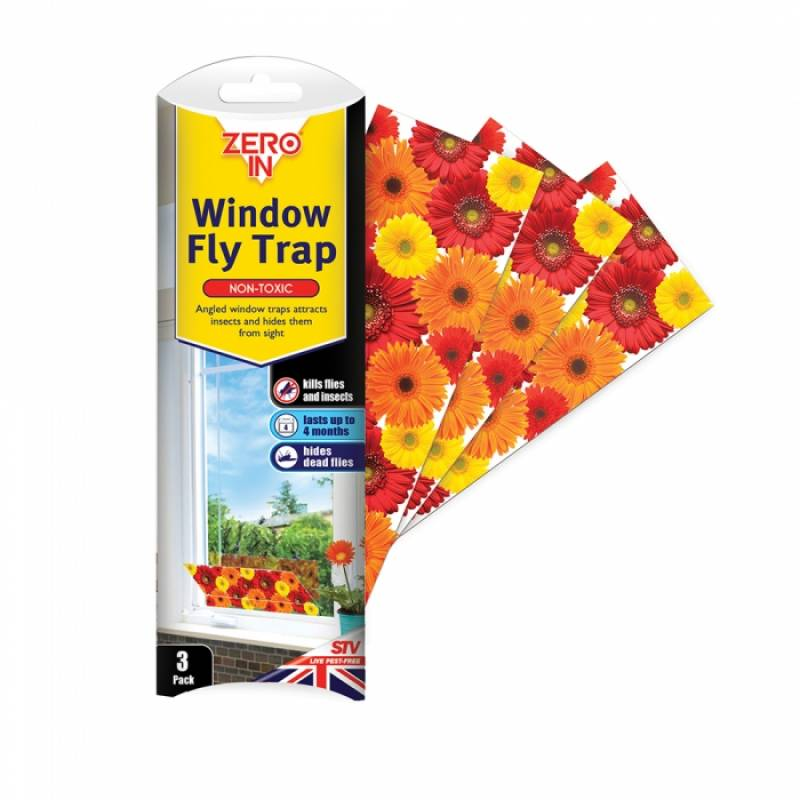 Window Fly Traps - 3 Pack