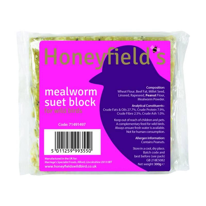 Honeyfields Mealworm Suet Treat 300gm