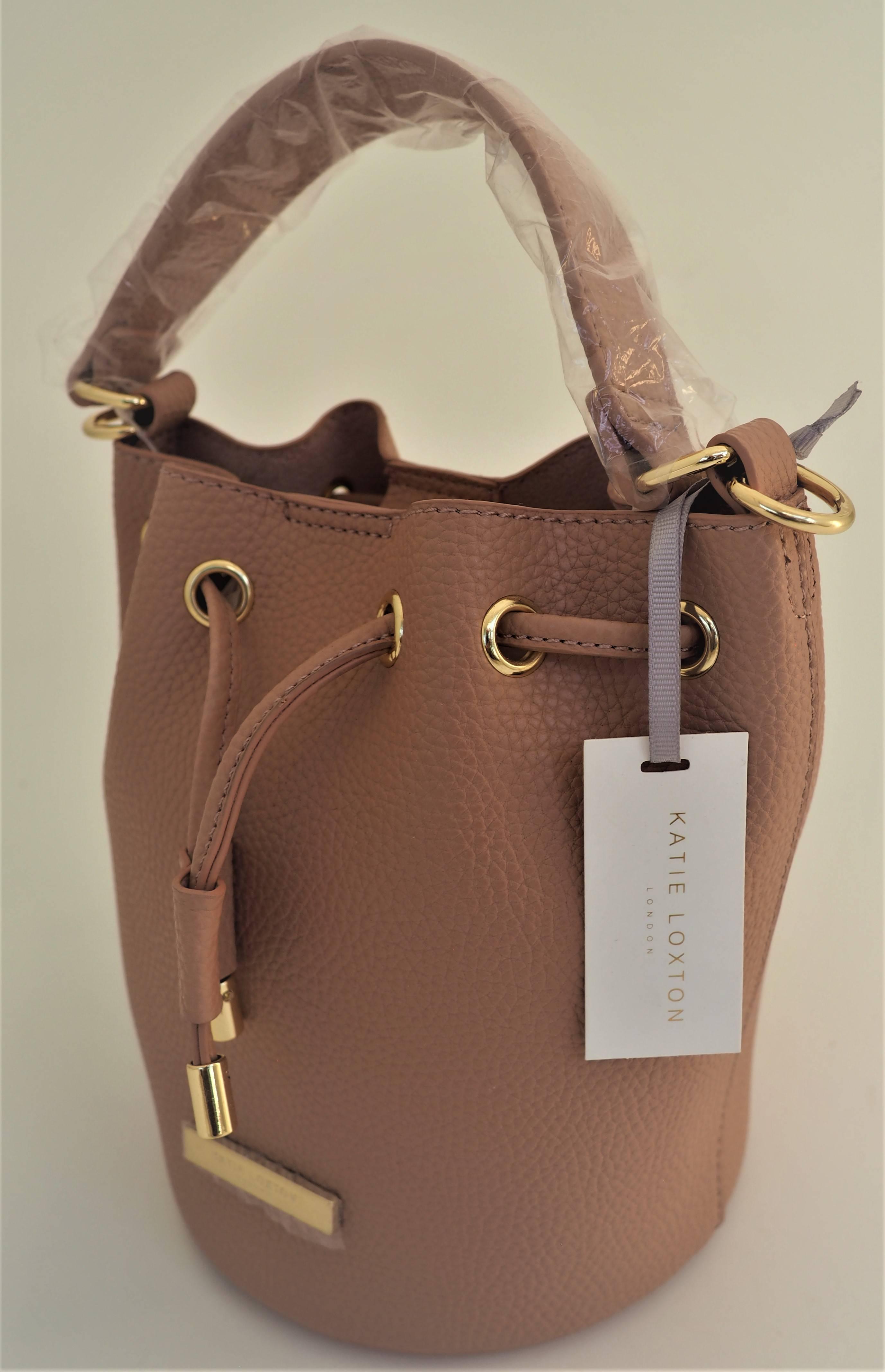 "Katie Loxton ""Chloe"" Mini Bucket Bag Dusky Pink"