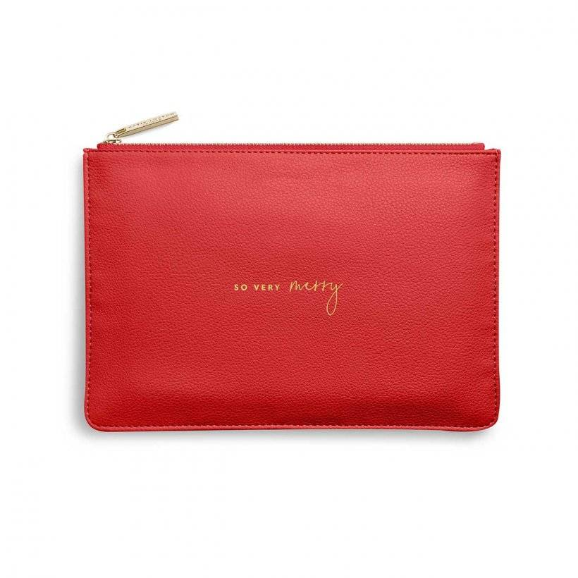 """Katie Loxton """"So Very Merry"""" Red Perfect Pouch"""